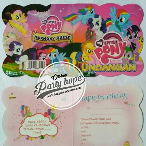 Foto Produk Kartu undangan ulang tahun / undangan ultah little pony / undangan dari PARTY HOPE 2