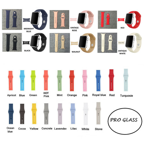 Foto Produk Apple Watch iWatch 38 mm rubber Sport Strap Band Premium series 1/2/3 dari Pro Glass