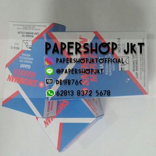 Foto Produk SPIDOL PERMANENT MARKER SNOWMAN G12 / G-12 GROSIR! - Biru dari Paper Shop Jkt