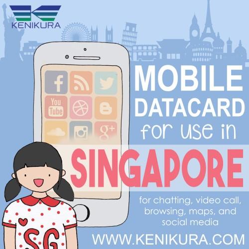 Foto Produk 3 days Sim Card Singapore, Unlimited Data, simcard singapura dari Kenikura Tour