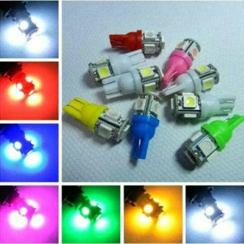 Foto Produk LAMPU LED T10 5 SMD 5050 SENJA SEIN PLAT BOHLAM REM JAGUNG MOBIL MOTOR - Kuning dari mami sarah