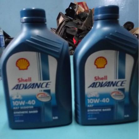 Foto Produk Oli Shell Advance AX7 10W-40 0,8L/ Oil Synthetic Based Motor dari SM variasi motor