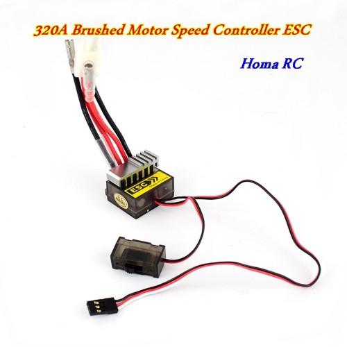 Foto Produk ESC Brushed Motor Speed Controller 320 A dari Homa RC
