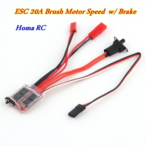 Foto Produk ESC 20A Brush Motor Speed Controller With Brake dari Homa RC