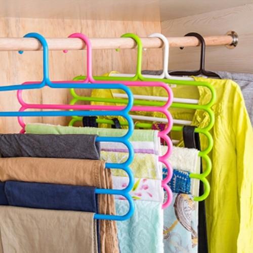 Foto Produk hanger susun 5 laundry gantungan multifungsi Scarf dari anabelle
