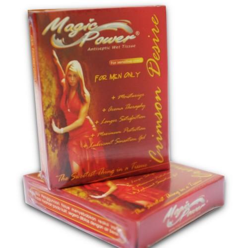 Foto Produk Magic Power Crimson Desire antiseptic Wet Tissue (Khusus Pria Dewasa) dari Herbaleo