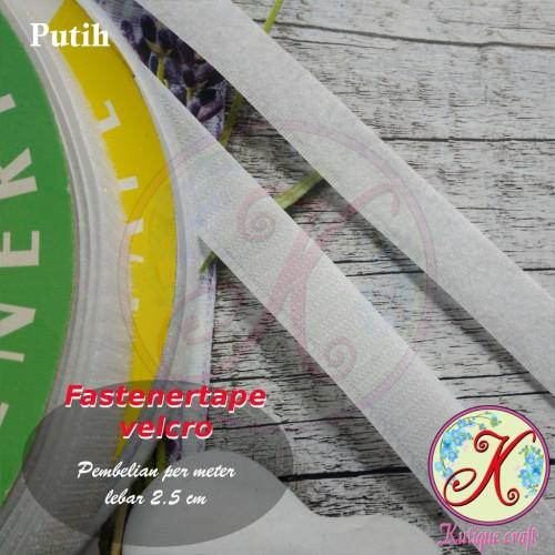 Foto Produk Fastener Tape / Velcro 2,5cm per meter dari Kutique Craft