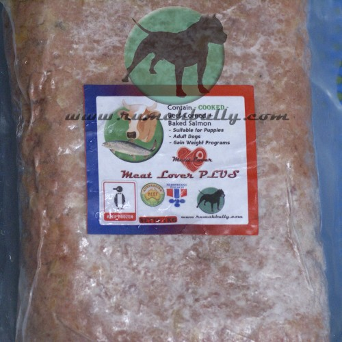 Foto Produk Dog & Cat Raw Food - MeatLover Plus (Kornet Sapi + Baked Salmon) dari RumahBully