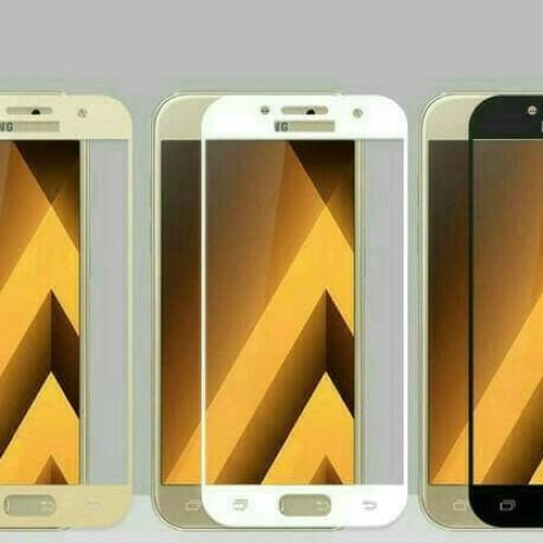 Foto Produk Samsung A5 2017 / A3 2017 / A7 2017 Tempered Glass Warna Full Cover - Hitam, SAMSUNG A5 2017 dari Jagonya Case