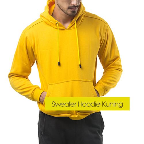 Foto Produk (PROMO) Hoodie Jumper Sweater Polos Kuning - Yellow - Kuning, M dari Hoodie Center