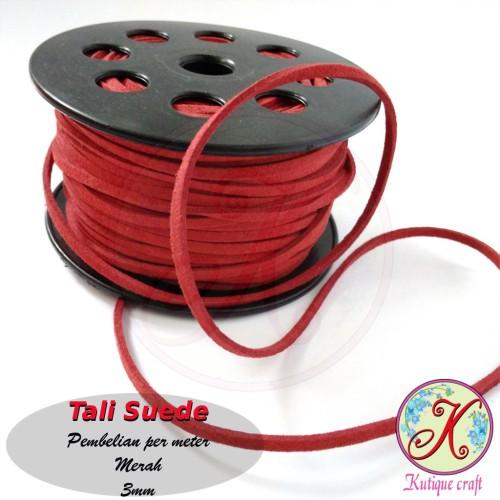 Foto Produk Tali Suede / Tali Beludru 3mm per meter dari Kutique Craft
