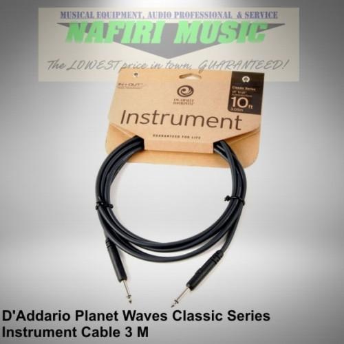 Foto Produk D'Addario Planet Waves PW-CGT-10 Classic Series Instrument Cable 3 M dari Nafiri Music Store