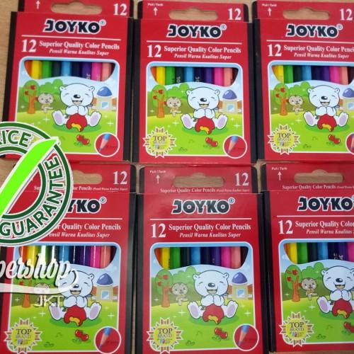 Foto Produk GROSIR!!! Pensil Warna 12 Joyko Kecil CP-S12 Mini dari Paper Shop Jkt