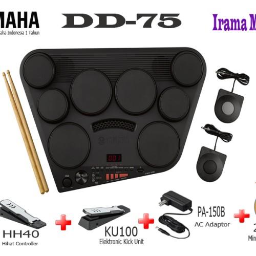 Foto Produk Yamaha Drum Pad Elektrik Digital DD-75 / DD75 / DD 75 dari irama music store