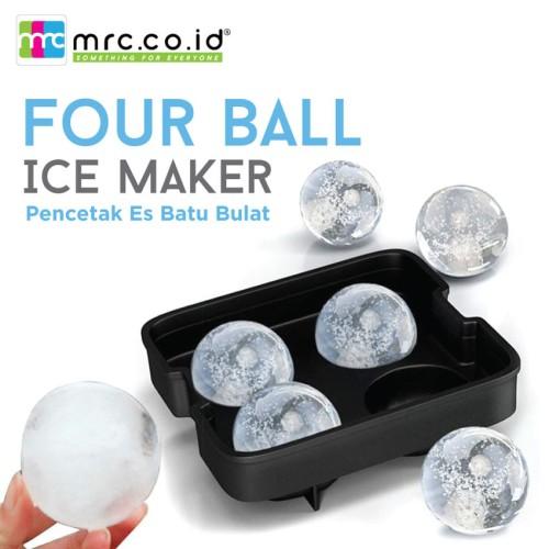 Foto Produk Four Ball Ice Maker / Pencetak Es Batu Bulat - Hitam dari MRC Phone Shop