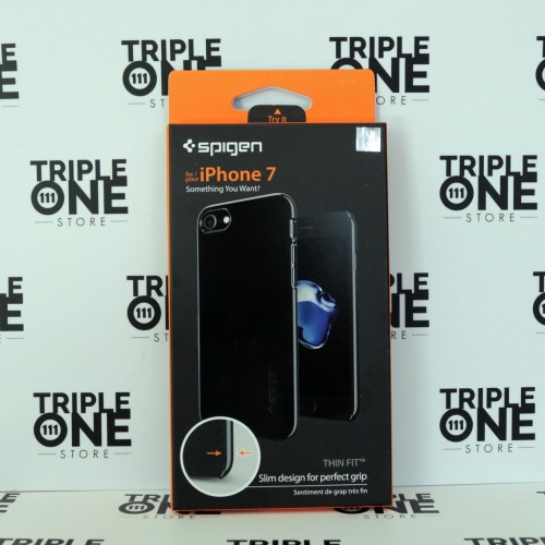 Foto Produk Spigen iPhone 7 Case Thin Fit - Jet Black dari TripleOne Store Bandung