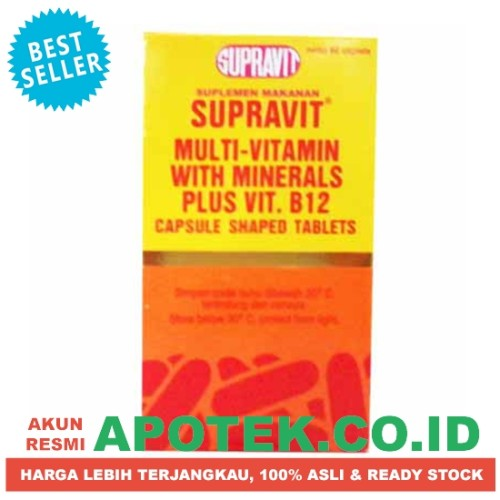 Foto Produk Supravit - Vitamin B12 Mineral - Obat Multivitamin, Daya Tahan Tubuh dari Mitra Sehat Indonesia