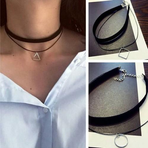 Foto Produk Kalung Choker Geometric Pendant Triangle Gothic dari Lumiere-Jewelery