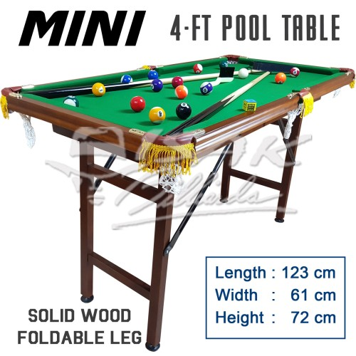 Foto Produk Mini Pool Table 4-ft Wood - Mainan Hadiah Anak Meja Biliar Billiard dari ISAK Billiard Sport Co.