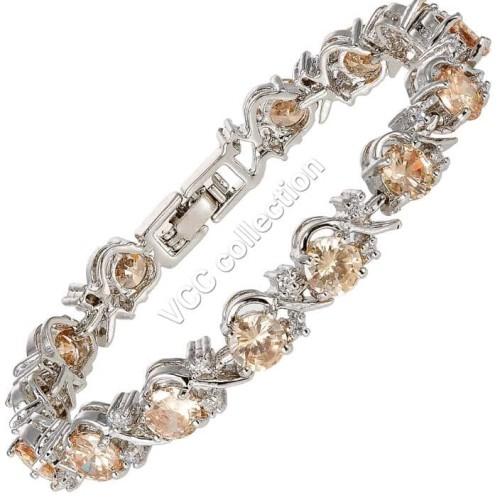 Foto Produk gelang wedding bridal luxury zirconia rhinestone silver plated dari Vallerie C.C shop
