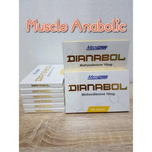 Foto Produk Dianabol Meditech Dbol / Methandianone 10mg Isi 100 dari Muscle Anabolic