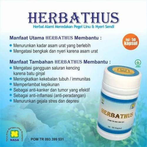 Foto Produk HERBATHUS (Obat Herbal NASA untuk Asam Urat, Pegal Linu & Nyeri Sendi) dari Kasimura Herbal, Go !