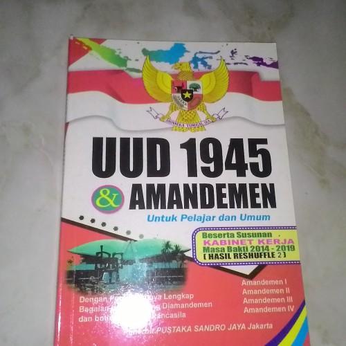 Foto Produk UUD 1945 & AMANDEMEN + KABINET KERJA 2014-2019 dari Toko Buku Lestari