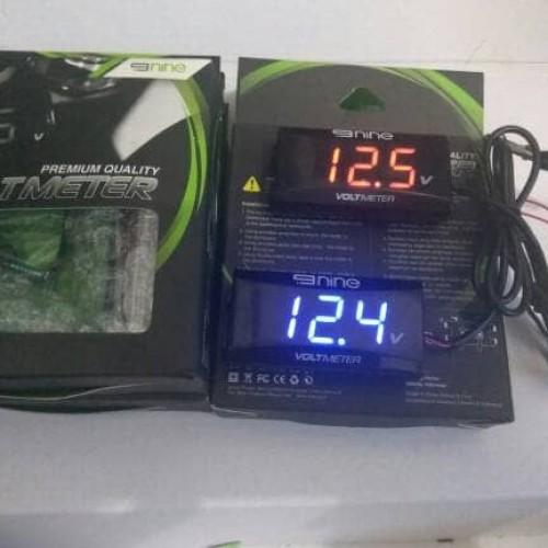Foto Produk Voltmeter Digital Slim Mini Volt Meter Waterproof Luminos 9nine - Biru dari Champs
