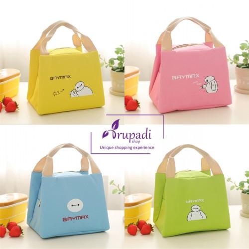 Foto Produk Tas Bekal Anak / kotak Makan / lunch box Cooler Bag BayMax dari Drupadi shop
