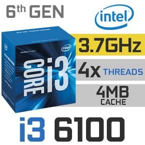 Foto Produk Intel Core i3-6100 3.7Ghz - Socket LGA 1151 - Skylake Tray dari Sistem Komputer