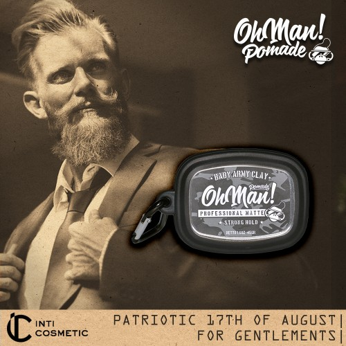 Foto Produk Oh Man! Baby Pomade Army Clay 45gr [with Oh Man! Case] dari IntiCosmetic