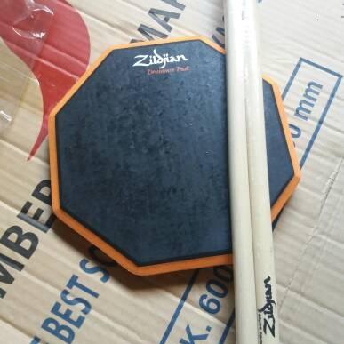 Foto Produk pad drum 8 inchi murah bonus stick sepasang dari ridwan guitar shop