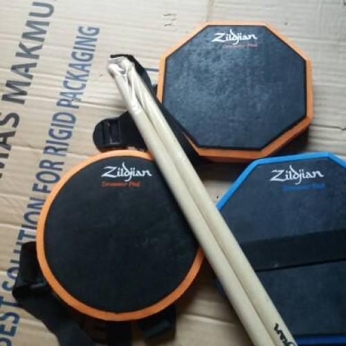 Foto Produk pad drum 6 inchi murah bonus stick sepasang bisa di ikat dari ridwan guitar shop