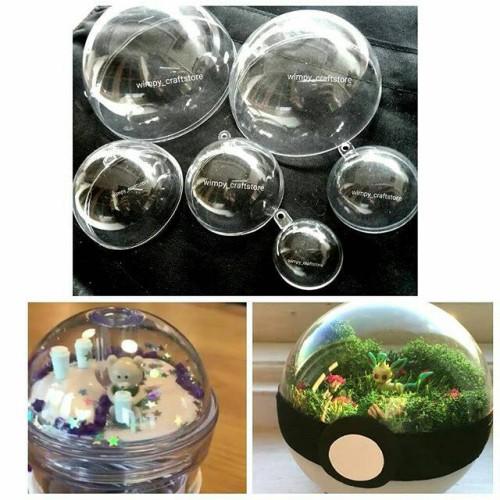 Foto Produk HALF DOME 10CM SETENGAH BOLA TRANSPARANT Akrilik ball bola akrilik dari Wimpy Clay