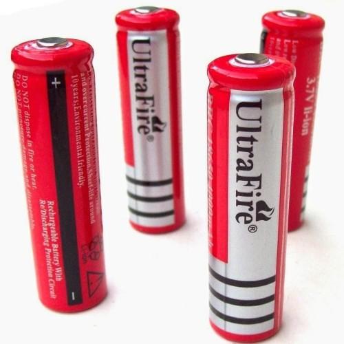 Foto Produk Baterai 18650 Button Top Rechare Cas UltraFire Senter Power Bank Laser dari lbagstore