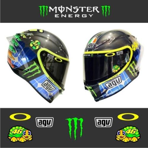 Foto Produk Cutting Sticker Stiker Visor Helm VR 46 Valentino Rossi Monster Energy dari Jago Sticker