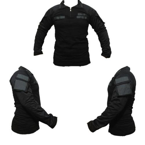 Foto Produk baju kaos tactical bdu combat shirt hitam perekat dada,kreah, tangan - Hitam dari Mardo combat