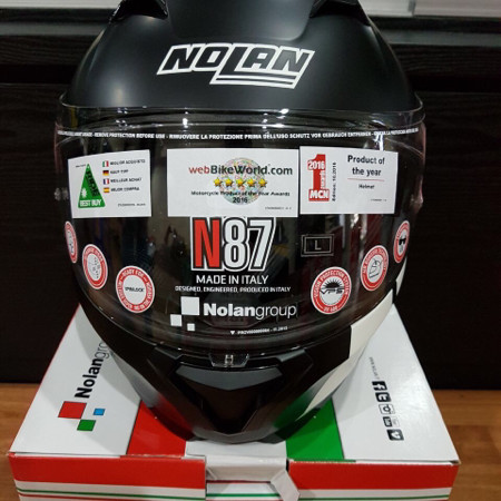 Foto Produk Nolan N87 Martz Ncom Flat black dari Bv Motoshop