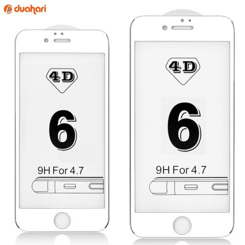 Foto Produk Tempered Glass FULL COVER 4D iPhone 7 Screen Protector 4D iPhone 7 - Putih dari Dua Hari Jakarta