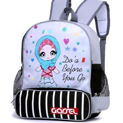 Foto Produk 5892ZUK, tas sekolah ransel anak perempuan/cewek siswi muslimah soleha dari winkids