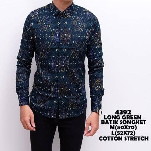 Foto Produk Kemeja Batik Pria Gradation Panjang Slimfit   Baju Batik Murah dari ALJOSA