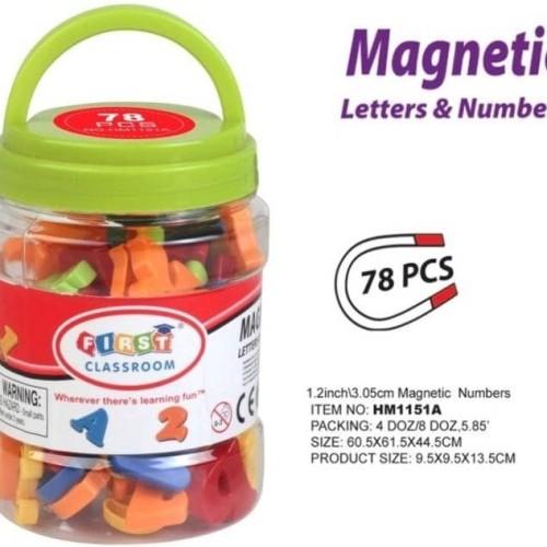 Foto Produk Mainan edukasi - huruf dan angka magnet - magnetic alfabet dari Kado Kiddo