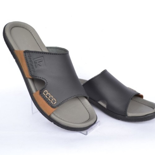 Foto Produk Sandal Kulit Pria Kickers Slip On Grey dari leather shoes station