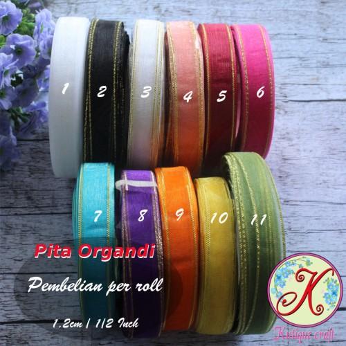 Foto Produk Pita Organdi Lis 1/2 Inch dari Kutique Craft