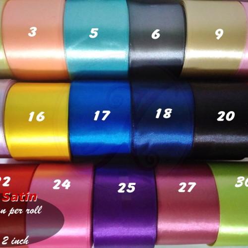 Foto Produk Pita Satin 5cm (2 Inch) per roll dari Kutique Craft