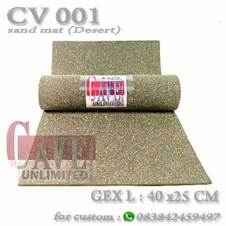 Foto Produk sand mat karpet pasir alas reptile kura torto ular gecko kadal salva dari scorpion/ kalajengking
