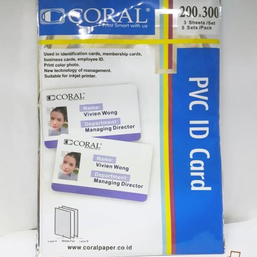 Foto Produk Kertas PVC Coral Untuk bahan ID Card A4 (isi 5 Lembar) dari Mitra Printer Roxy
