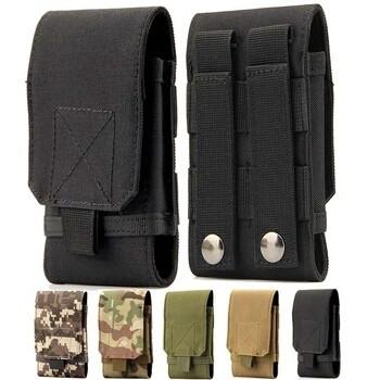 Foto Produk Tas HP Army Pouch Belt Military Men Waist Outdoor Bag Kecil Max 6 inch dari SmartShop007
