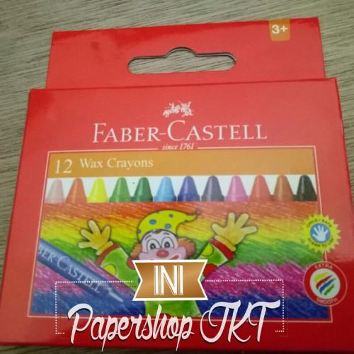 Foto Produk KHUSUS GROSIR!!! WAX CRAYON FABER CASTELL REGULER 75mm 12 dari Paper Shop Jkt