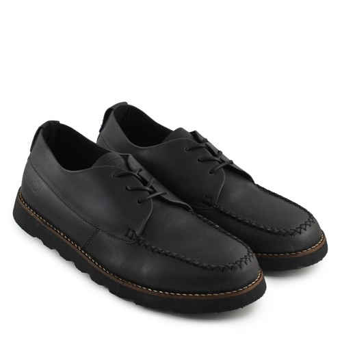 Foto Produk Sauqi Flux Hitam Sepatu Pria Sneakers Loafers Formal Sepatu Kulit dari Toko Sepatu Atang